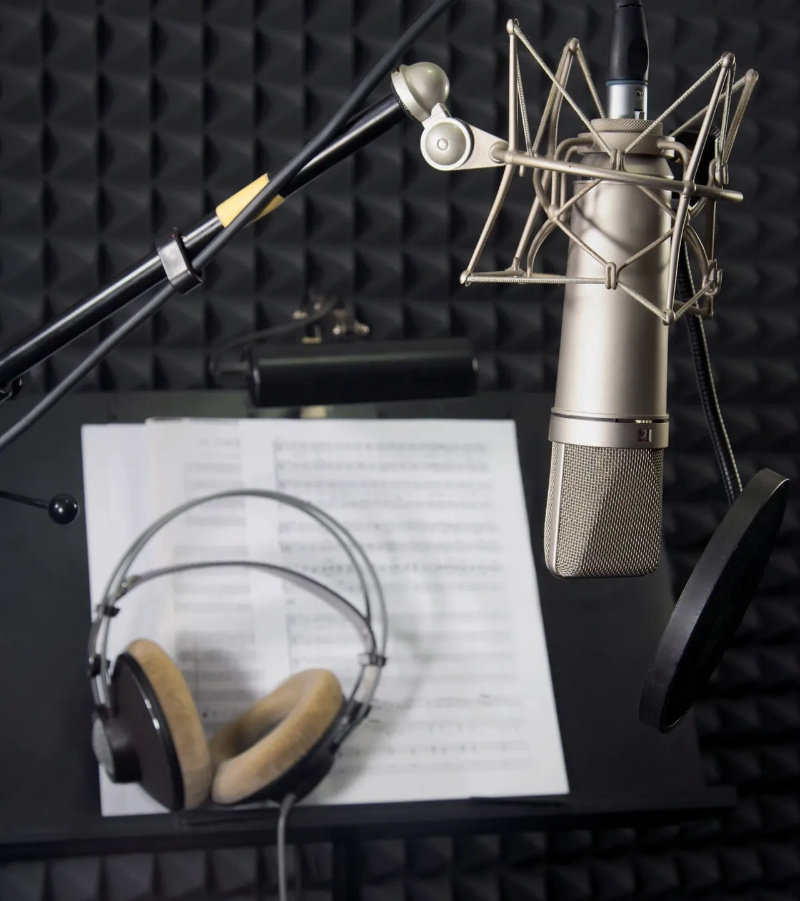Shaundria Cambpell's recording equipment